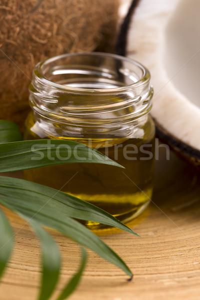 Stock photo: Coconut and coconut oil
