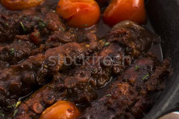 Polpo salsa di pomodoro alimentare vita pomodoro studio Foto d'archivio © joannawnuk