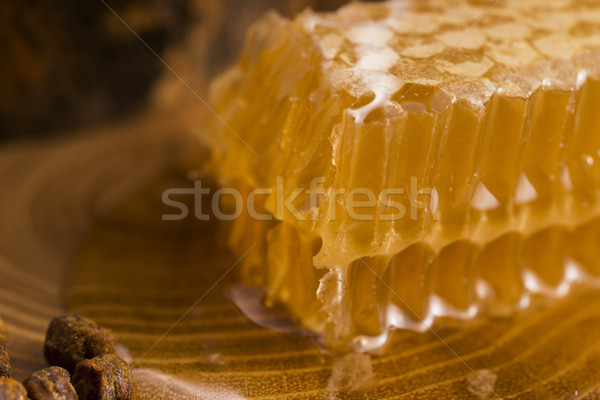 honeycomb, pollen and propolis Stock photo © joannawnuk
