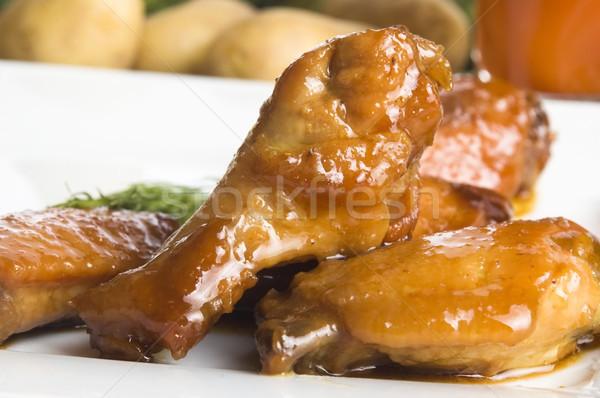 Roast chicken with honey Stock photo © joannawnuk