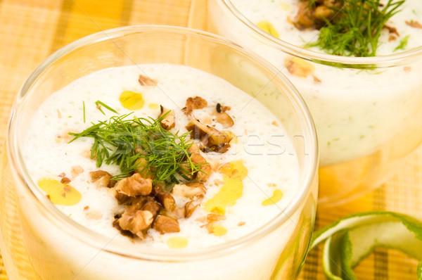 Tarator - traditional bulgarian cold summer soup Stock photo © joannawnuk
