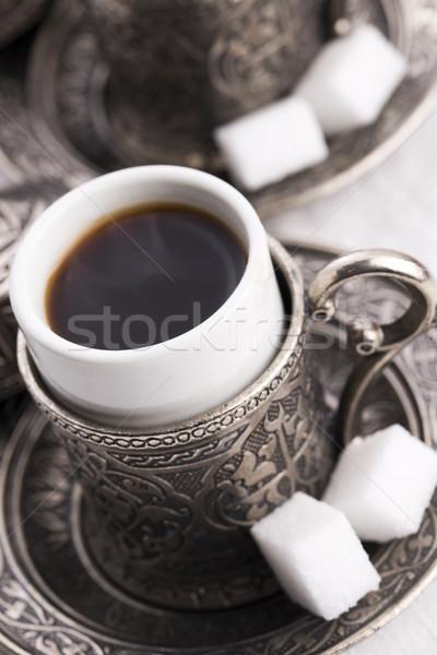 Türk kahve gıda cam tablo dinlenmek Stok fotoğraf © joannawnuk