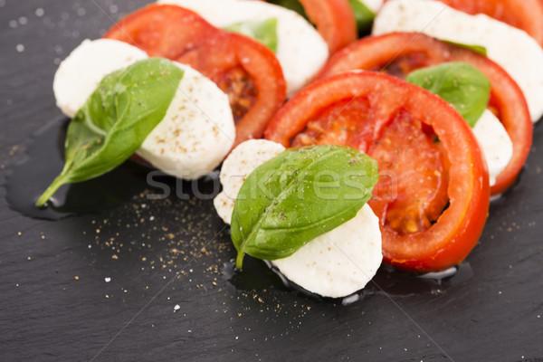 カプレーゼサラダ トマト バジル バルサミコ酢 ストックフォト © joannawnuk
