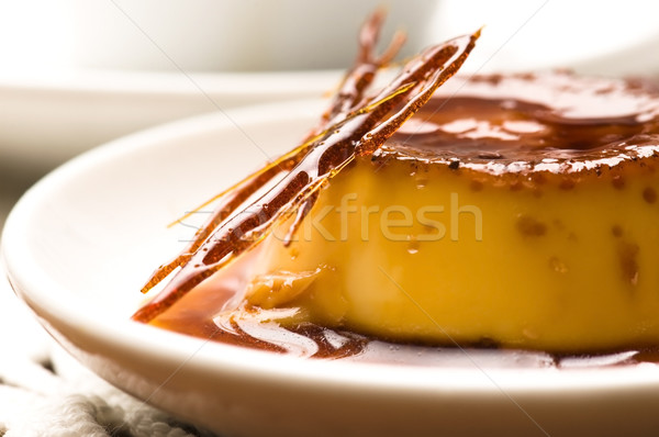 Delicious creme caramel dessert  Stock photo © joannawnuk