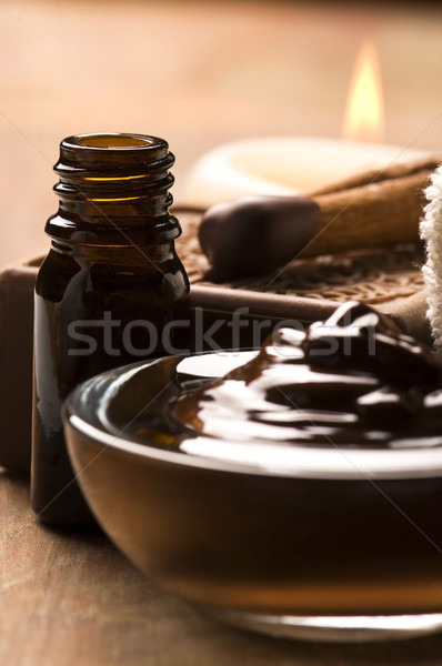 Chocolate spa with cinnamon Stock photo © joannawnuk