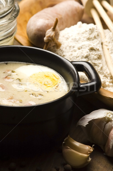 Traditional Polish White Borscht For Easter  Stock photo © joannawnuk