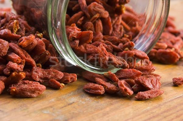 Stock photo: Red dried goji berries