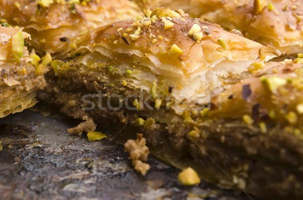 Hagyományos Közel-Kelet édes sivatag kávézó minta Stock fotó © joannawnuk