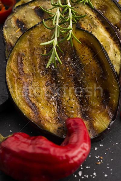 Grilled eggplant slices Stock photo © joannawnuk