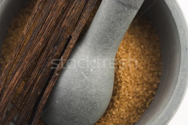 ブラウン バニラ 砂糖 豆 食品 スプーン ストックフォト © joannawnuk