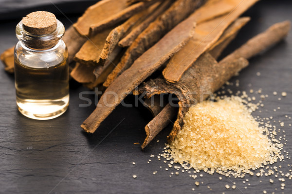 Stock photo: Cinnamon essential oil