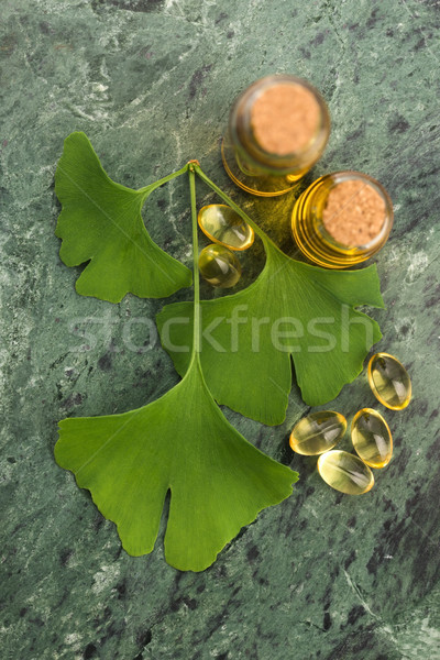 ginkgo with essential oil Stock photo © joannawnuk