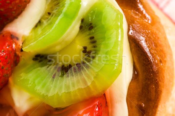 Stok fotoğraf: Fransız · kek · taze · meyve · restoran · kırmızı
