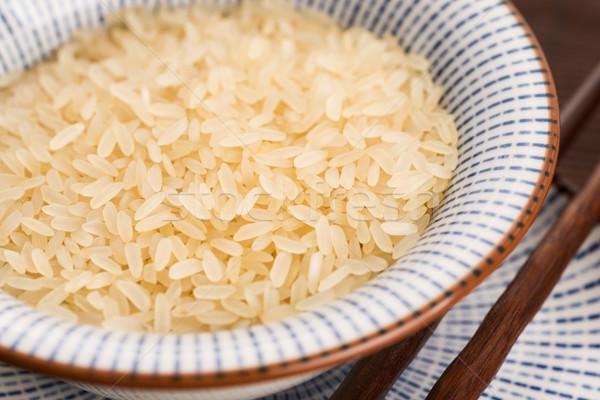 ボウル リゾット コメ 穀物 クローズアップ クローズアップ ストックフォト © joannawnuk