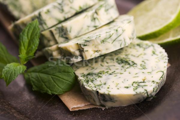 Ervas manteiga jardim verde limão fresco Foto stock © joannawnuk