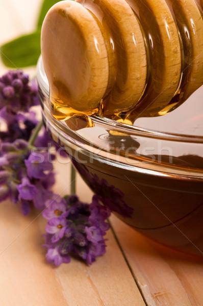 лаванды меда свежие цветы сладкие блюда цветок Сток-фото © joannawnuk