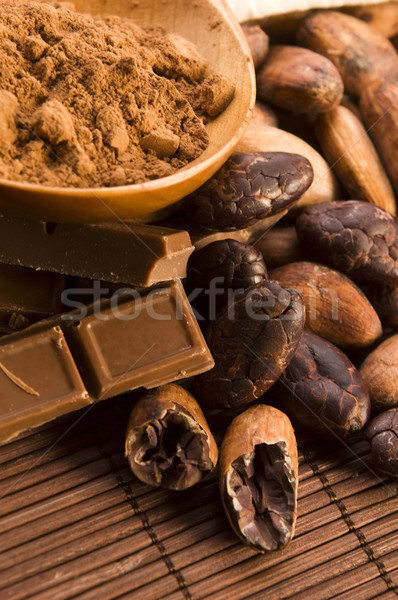 какао бобов шоколадом завода есть зерна Сток-фото © joannawnuk