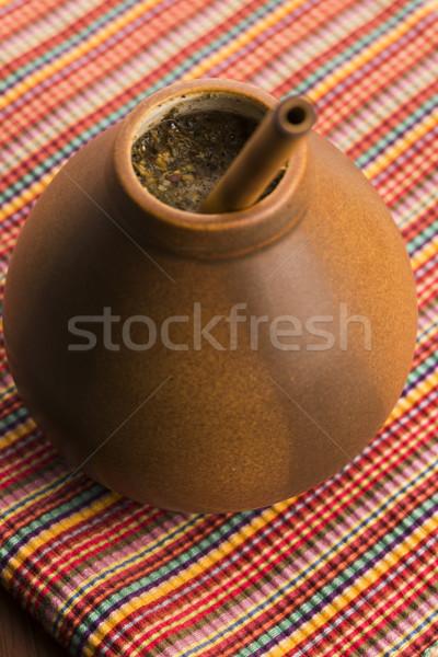 Companheiro madeira saúde beber chá planta Foto stock © joannawnuk