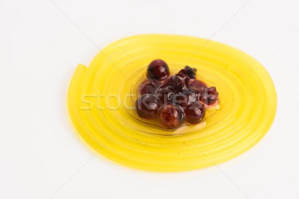 Molekularny owoców spaghetti syrop lata biały Zdjęcia stock © joannawnuk