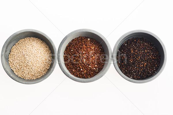 Quinoa grain on white background Stock photo © joannawnuk