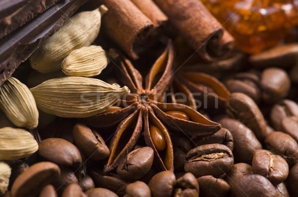 Lezzet kahve malzemeler anason çikolata tarçın Stok fotoğraf © joannawnuk