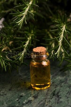 Marihuána növény cannabis olaj háttér zöld Stock fotó © joannawnuk