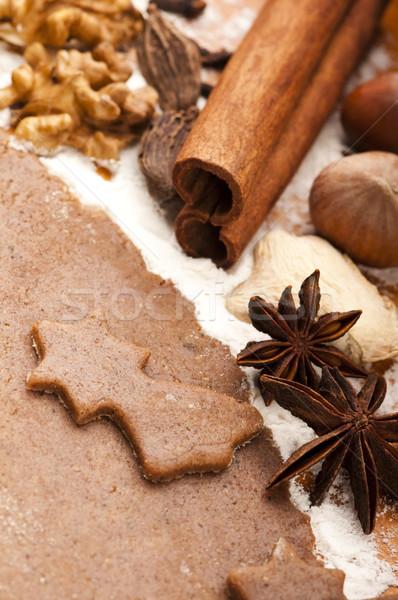 Natale cottura dessert cucchiaio celebrazione dolce Foto d'archivio © joannawnuk