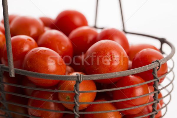 チェリートマト バスケット 食品 緑 グループ 工場 ストックフォト © joannawnuk