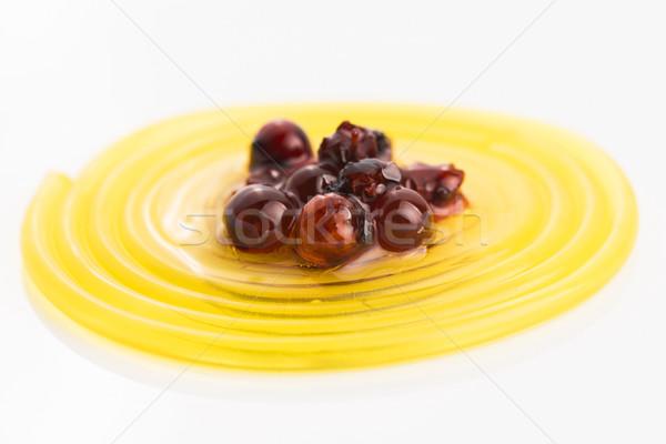 Molekuláris gyümölcs spagetti szirup nyár fehér Stock fotó © joannawnuk