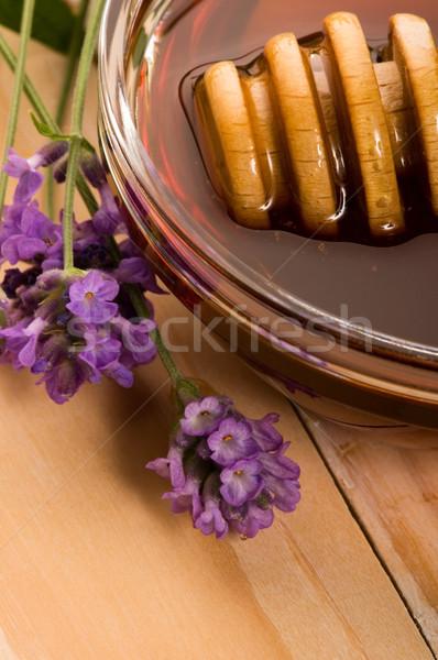 Lavande miel fraîches fleurs aliments sucrés fleur Photo stock © joannawnuk