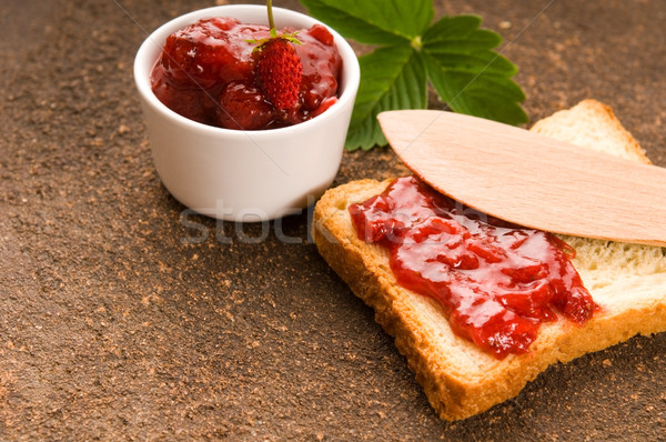 Photo stock: Confiture · Toast · alimentaire · fruits · verre