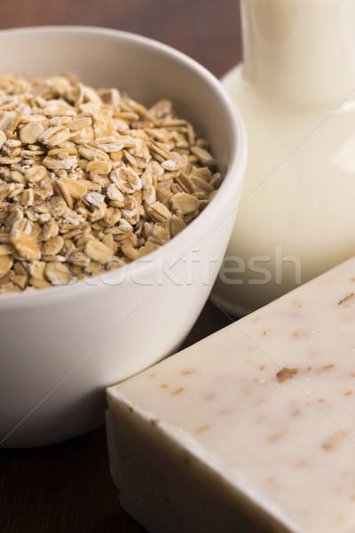 Oatmeal soap Stock photo © joannawnuk