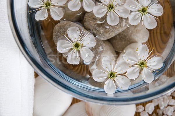 Zdjęcia stock: Biały · wellness · produktów · wiśniowe · kwiaty · wody