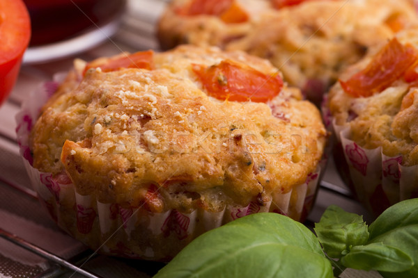 Fresh pizza muffin as a snack Stock photo © joannawnuk