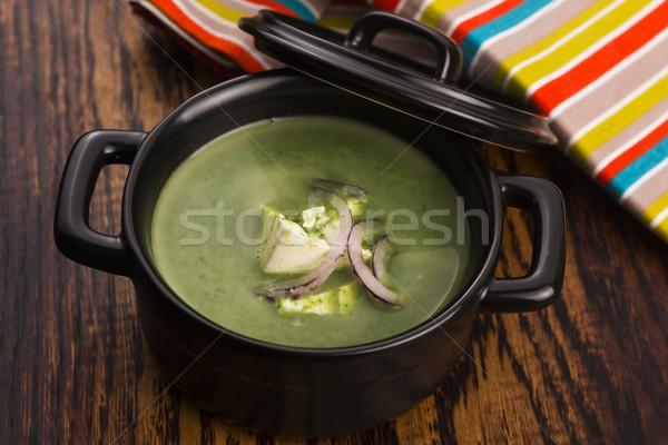 Spinach soup Stock photo © joannawnuk
