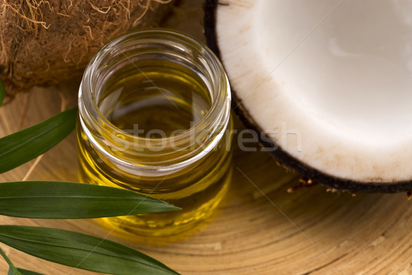 Coconut and coconut oil  Stock photo © joannawnuk