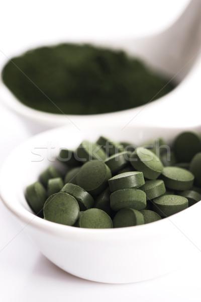 Green chlorella Stock photo © joannawnuk