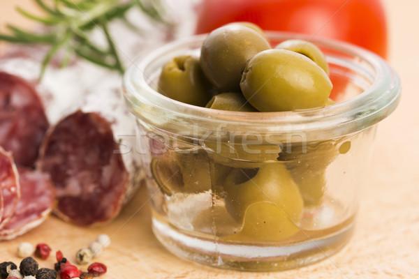 pickled olives Stock photo © joannawnuk