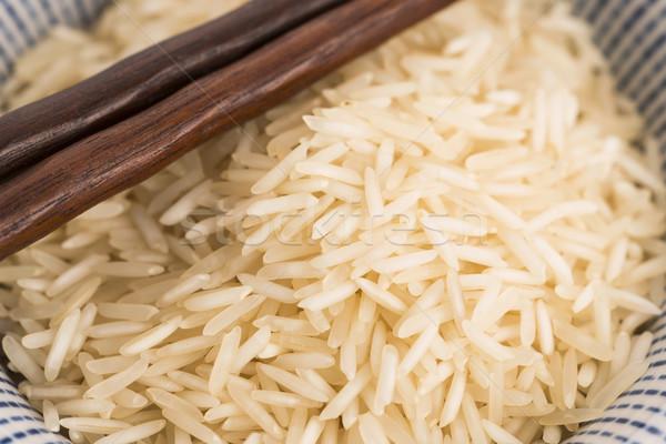 Basmati riso ciotola legno gruppo sani Foto d'archivio © joannawnuk