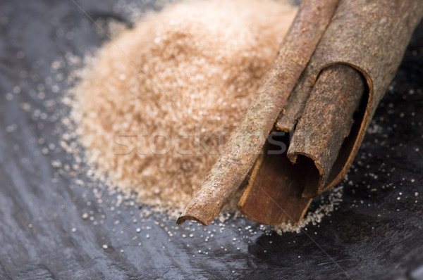 aromatic spices with brown sugar - cinnamon Stock photo © joannawnuk