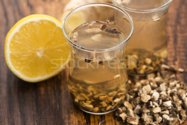 Teaglass with yellowhead root tea  Stock photo © joannawnuk
