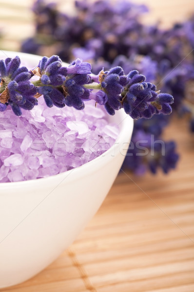 Lavender flowers and the bath salt - beauty treatment  Stock photo © joannawnuk
