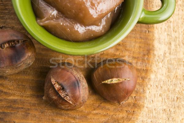 кремом фрукты коричневый Сток-фото © joannawnuk