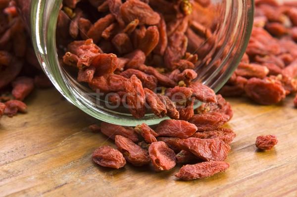 Red dried goji berries Stock photo © joannawnuk