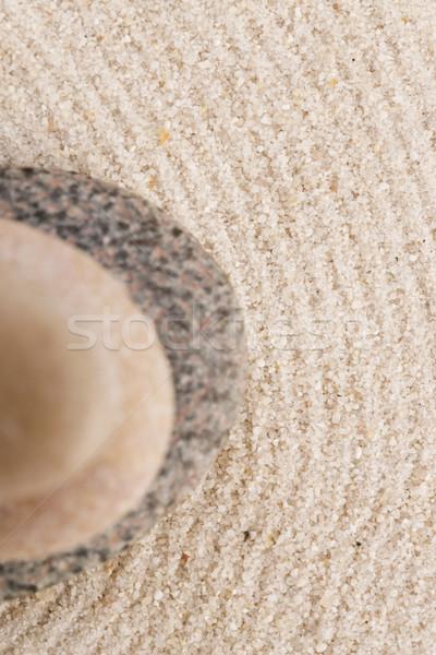 Mini zen kert absztrakt homok kő Stock fotó © joannawnuk
