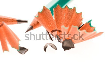 Pencils on white Stock photo © joannawnuk