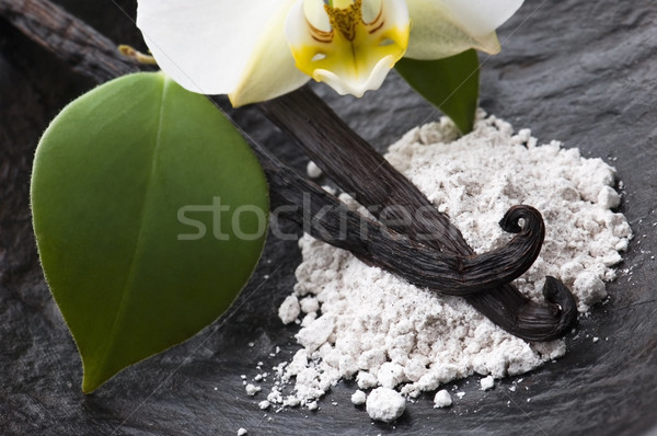 バニラ 豆 芳香族の 砂糖 花 料理 ストックフォト © joannawnuk