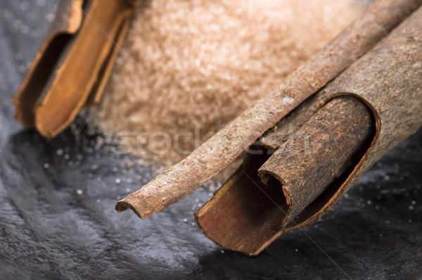 Aromatisch specerijen bruine suiker kaneel achtergrond energie Stockfoto © joannawnuk