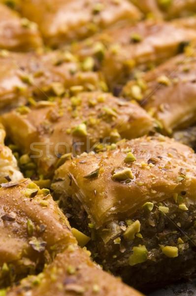 Traditioneel midden oosten zoete woestijn cafe patroon Stockfoto © joannawnuk