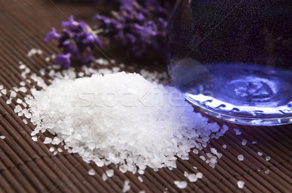 Lavender flowers and the bath salt and essential oil Stock photo © joannawnuk